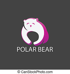 Polar bear in a grey background