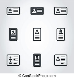 Cut away an icon - Set of icons cut away. A vector...