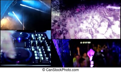 clubbing multi screen foam party - foam clubbing party...