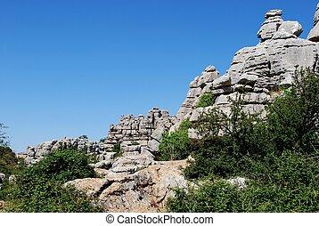 Karst landscape, Andalusia - Karst landscape, El Torcal...