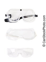 Safety glasses. Isolated on a white background.