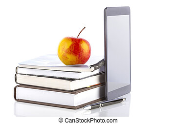 Online education - Concept of online education. Tablet pc...