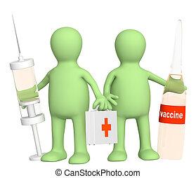 3D, doutores, vacina