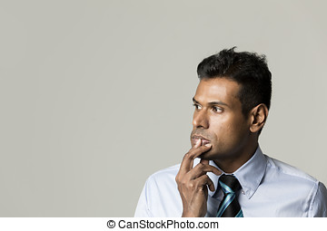 Portrait of an Indian businessman - Portrait of a stylish...