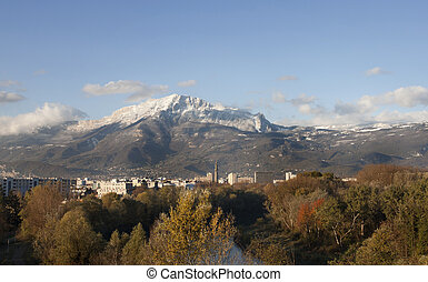 Mountain at Grenoble City (Provence - Alpes, France).