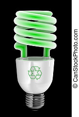 Green Energy Saver - Energy saving light bulb with recycling...