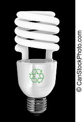 Energy Saver - Energy saving light bulb with recycling...