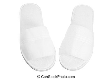 Bedroom Slippers on White Background