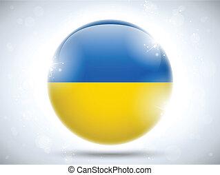 Ukraine Flag Glossy Button