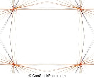 Fractal 48 Orange Frame - Beautiful flows of different color...