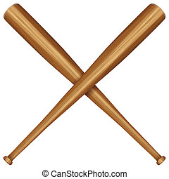 wooden baseball bat - Baseball bats on a white background....