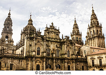 Cathedral of Santiago de Compostela The Romanesque facade -...