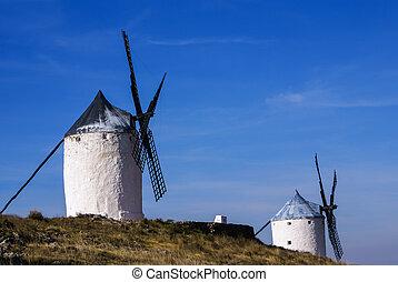 Cervantes Don Quixote windmills and Consuegra castle....