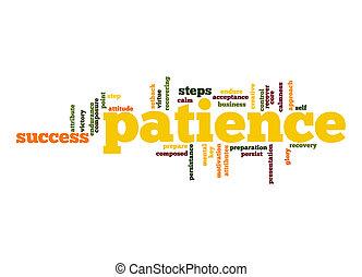 paciencia, palabra, nube