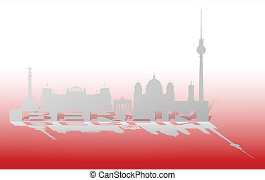 Berlin Cityscape_3 - An abstract vector illustration of the...