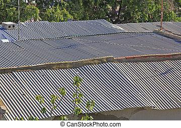 large corrugated roof