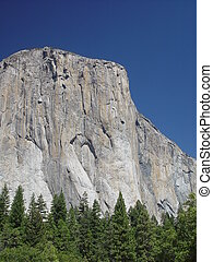 El Capitan I - A four thousand foot cliff of glacier carved...