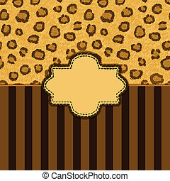 leopard skin background - vector illustration