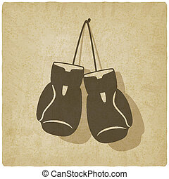 sport boxing old background - vector illustration