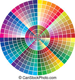Round Vector Color Chart