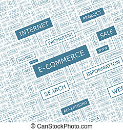 E-COMMERCE Word cloud concept illustration Wordcloud collage...