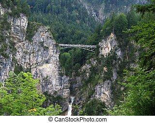 Bridge near Castle Hohenschwangau - A look from castle...