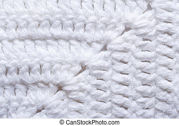 knitted texture white fabric close up macro background