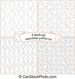 Ink Strokes Seamless Set - Set of 4 seamless patterns with...