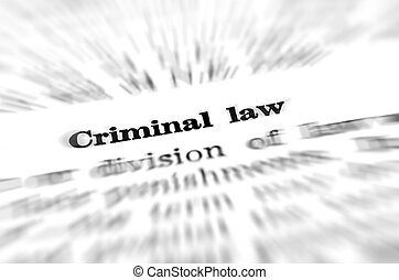 Definition of Criminal Law - Definition of criminal law in...