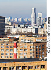 houses in residential district in Moscow