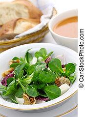 fresco, milho, Assim, salada, pão