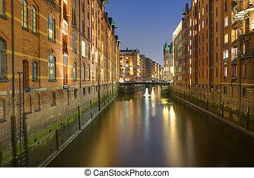 Old warehouses in Hamburg