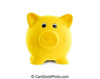 roze, uniek, Keramisch,  bank,  Piggy