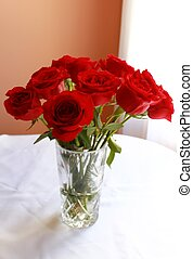 Red roses vertical