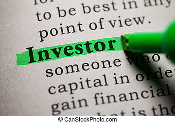 investor - Fake Dictionary, definition of the word investor