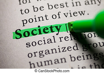 society - Fake Dictionary, definition of the word society