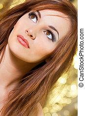 Simply Beautiful - Studio shot of a beautiful young brunette...