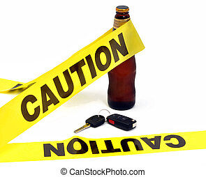 Caution - Dont Drink And Drive - Drinking and driving...