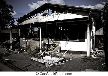 Burned House - Burned down house