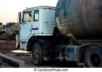 Rusty Old Truck - Old style truck with rust and dirt all...
