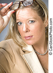 cute forty year old woman senior business executive - pretty...