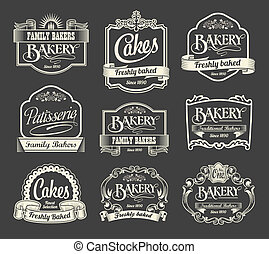 Calligraphic vector sign and label - Vintage calligraphic...
