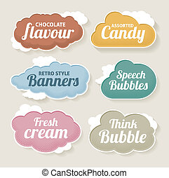 Cloud vector label set