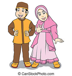 moslem children - Vector by syaiful_anwar, Available in...