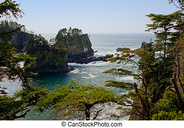 Cape Flattery Inlet, Washington - The inlet near the tip of...