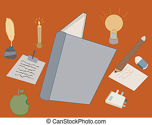 Writing Table - Vector and illustration of office or...