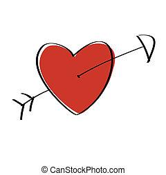 Heart Arrow - Heart pierced with arrow