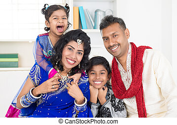 Happy smiling Indian family