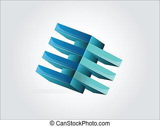 3d blue logo