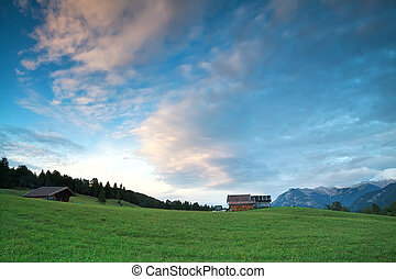 blue sky in Bavarian Alps, Germany